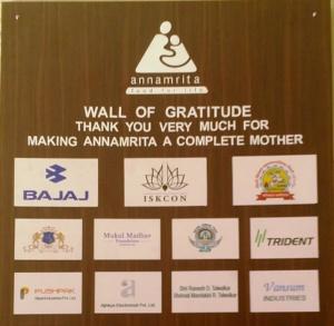 Annamrita- Wall of grattitude